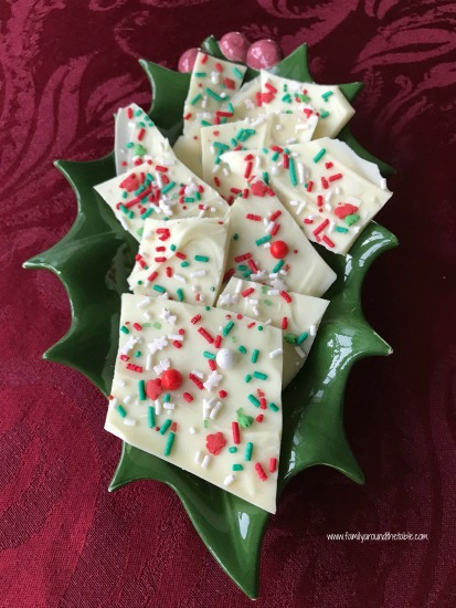 White Chocolate Bark #ChristmasSweetsWeek