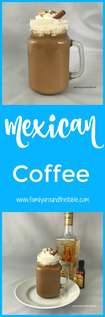 Mexican coffee is a great after dinner drink to serve to guests. Serve with or instead of dessert. #WarmUpDrinks