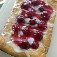 Glazed Cherry Cheese Danish