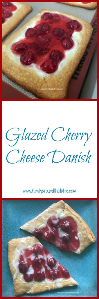 Glazed cherry cheese danish is an easy treat for any day of the week.