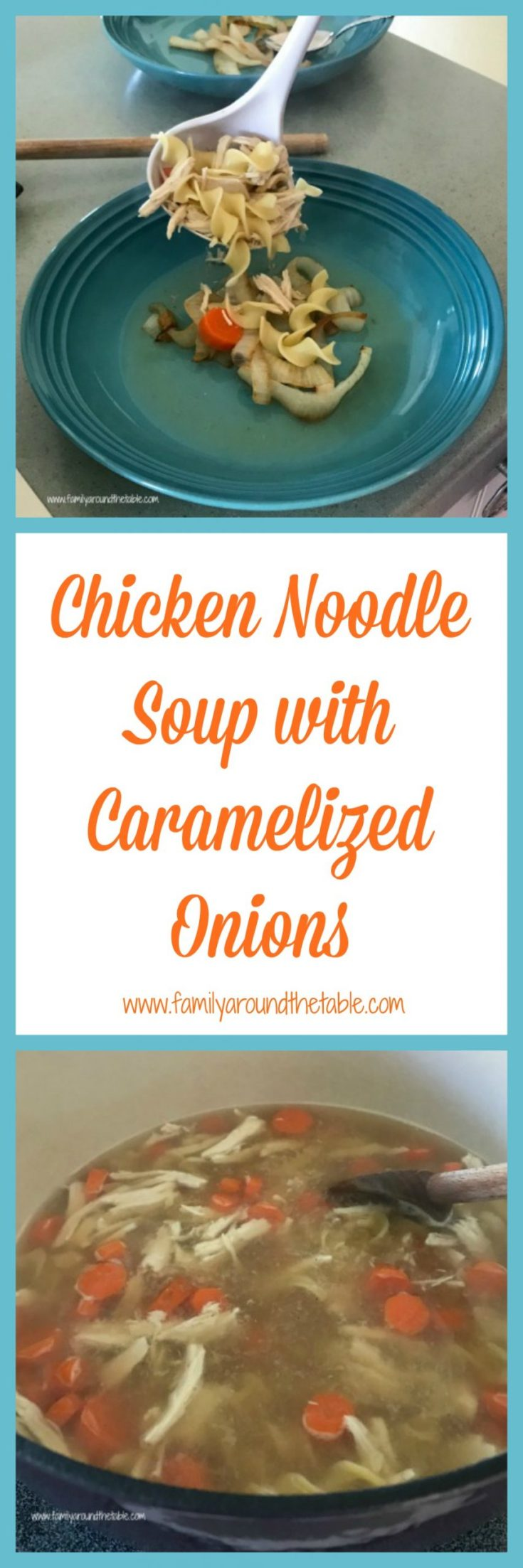 There is nothing better than chicken noodle soup on a cold day or when you're under the weather.