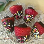 Chocolate dipped ganache filled strawberries make any occasion special.