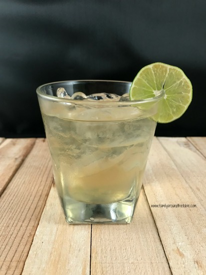 An Irish Buck, made with Irish whiskey, ginger ale and lime juice for St. Patricks's Day.