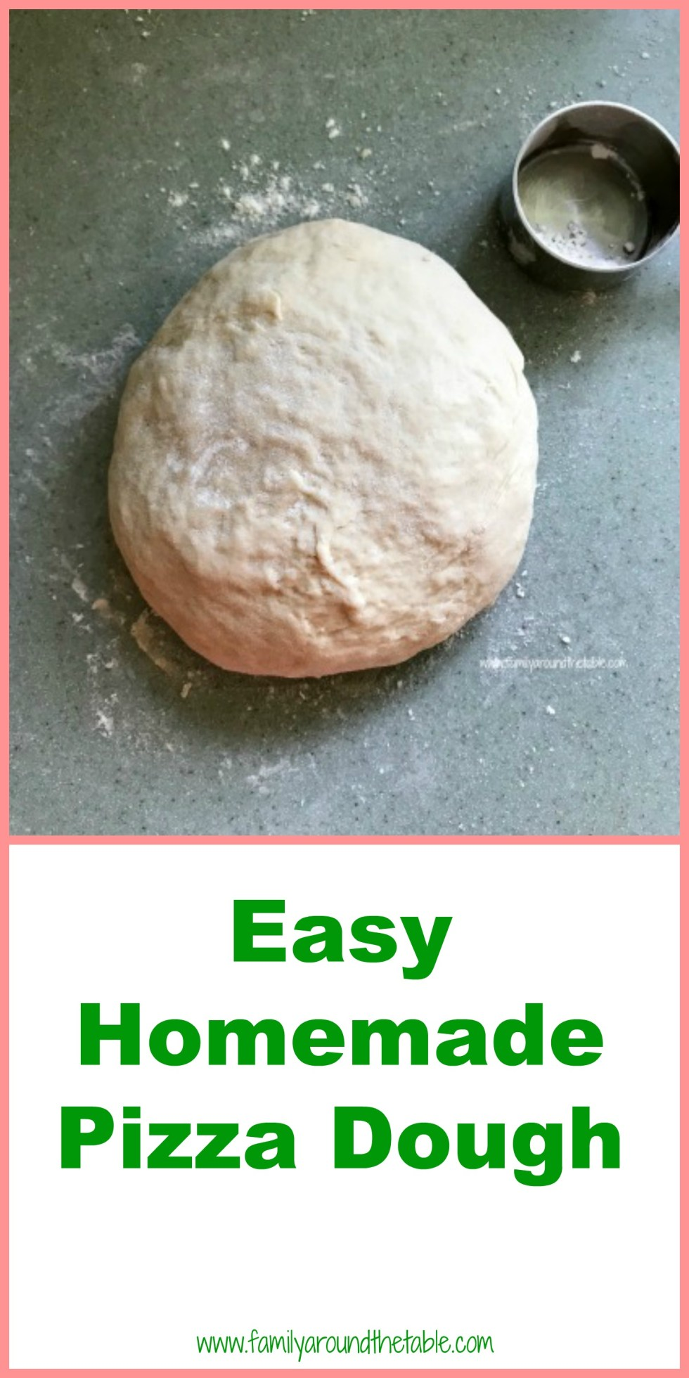 Homemade pizza dough Pinterest image.