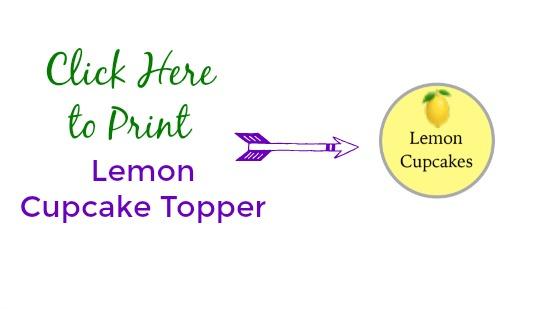 @FamTable Lemon Cupcake Topper Printable