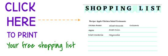 @FamTable Shopping List Printable
