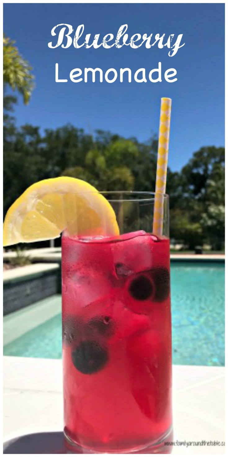 Made with fresh blueberries and lemons, this blueberry lemonade is a great way to cool off on a hot day.