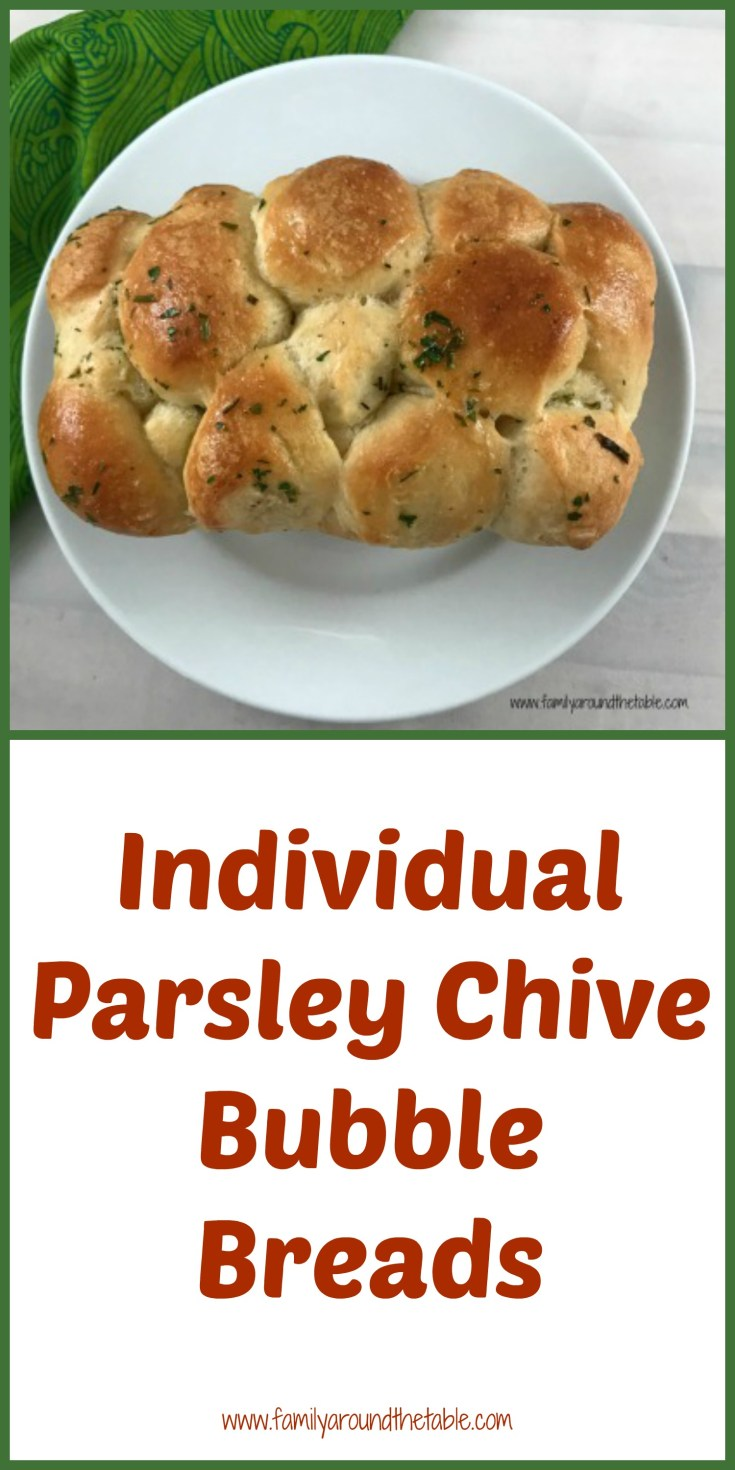 Individual parsley chive bubble breads are a fun way to serve bread with dinner.