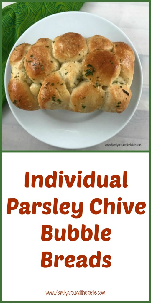Individual Parsley Chive Bubble Breads is a fun way to serve bread.