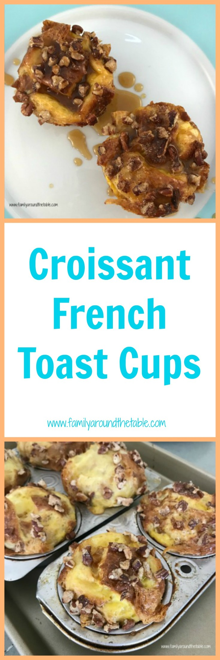 Croissant French toast cups come together quickly and are a delicious twist on a classic breakfast.