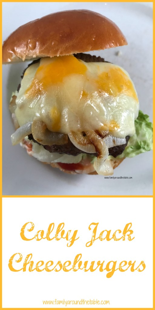 Colby Jack Cheeseburgers just in time for grilling season. #BurgerMonth
