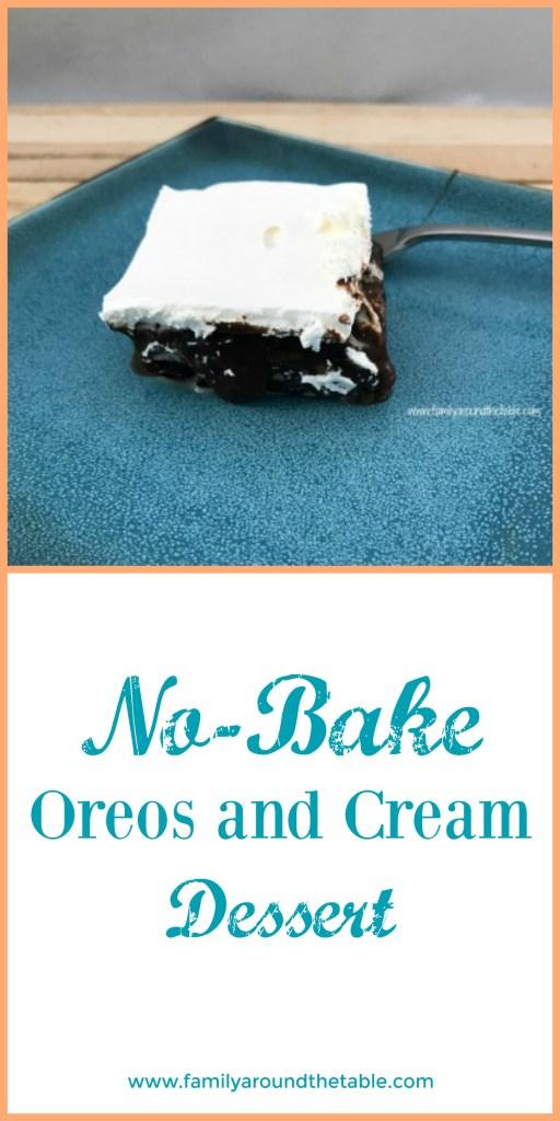 No bake Oreos and cream dessert is a great summertime treat. #BBQWeek