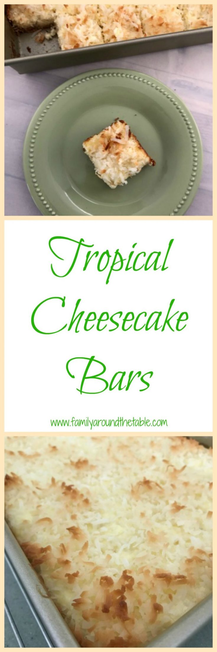 Serve tropical cheesecake bars all summer long. They travel well and will disappear in no time.