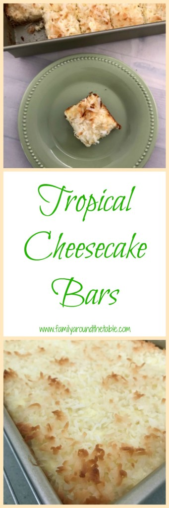 Tropical Cheesecake Bars are sure to disappear in no time.