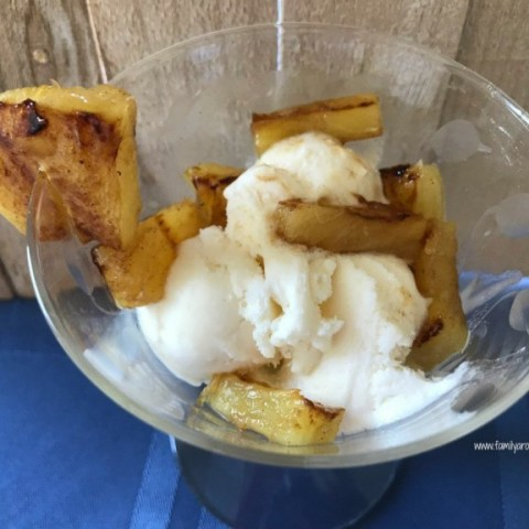 Cinnamon Brown Sugar Grilled Pineapple Parfait
