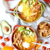 Crispy Chicken Tortilla Soup