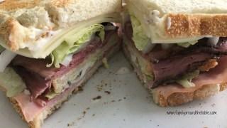 Roast Beef, Ham and Bacon Club Sandwich