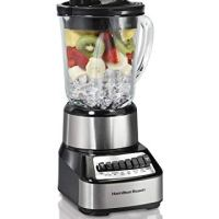 Hamilton Beach 54221 Wave Crusher Blender, with with 14 Functions and 40oz Glass Jar, Stainless Steel