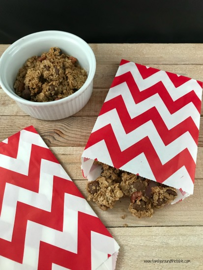 Use cute treat bags from Sweets & Treats to package the granola for after school snacks.