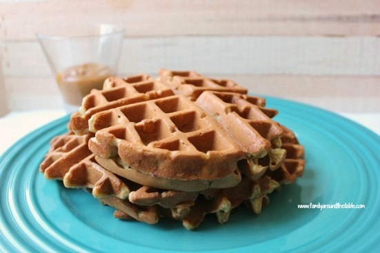 Banana waffles are a great way to use up over-ripe fruit.