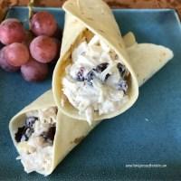 Cranberry Almond Chicken Salad Wraps