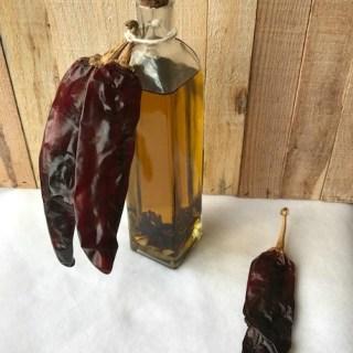 Guajillo Chili Pepper and Garlic Oil