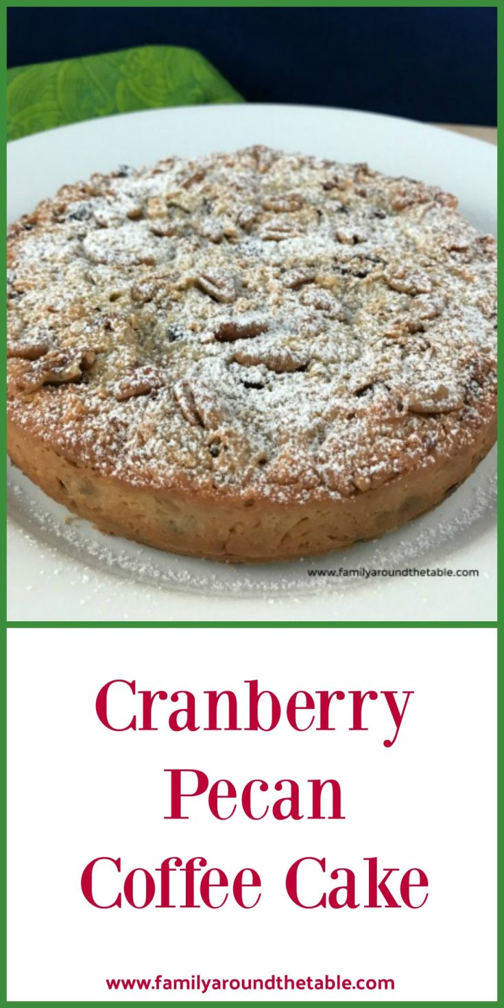 Cranberry pecan coffee cake is a treasure from my Mom's collection. It's the perfect size for a small gathering.