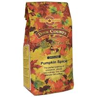 Door County Coffee, Fall Seasonal Flavored Coffee, Pumpkin Spice, Ground Coffee, 8 oz Bag