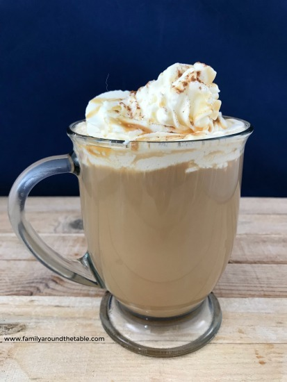 Homemade pumpkin spice caramel mocha is easily made at home.