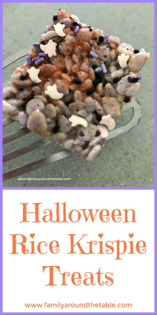 No tricks with these Halloween Rice Krispie treats. #OurFamilyTable