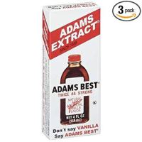 Adams Best Twice as Strong Vanilla 4oz Glass Bottle