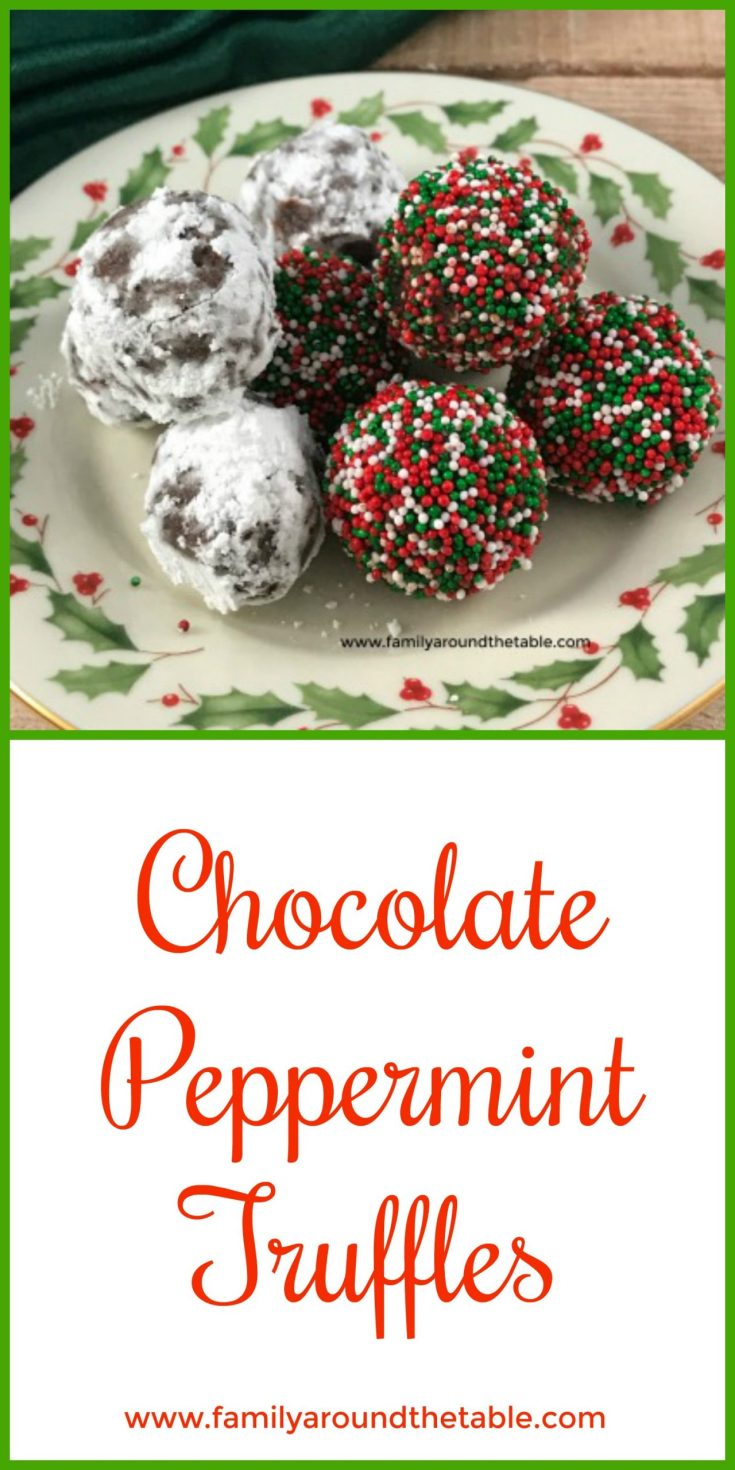 Chocolate Peppermint Truffles are a sweet ending to a holiday meal.