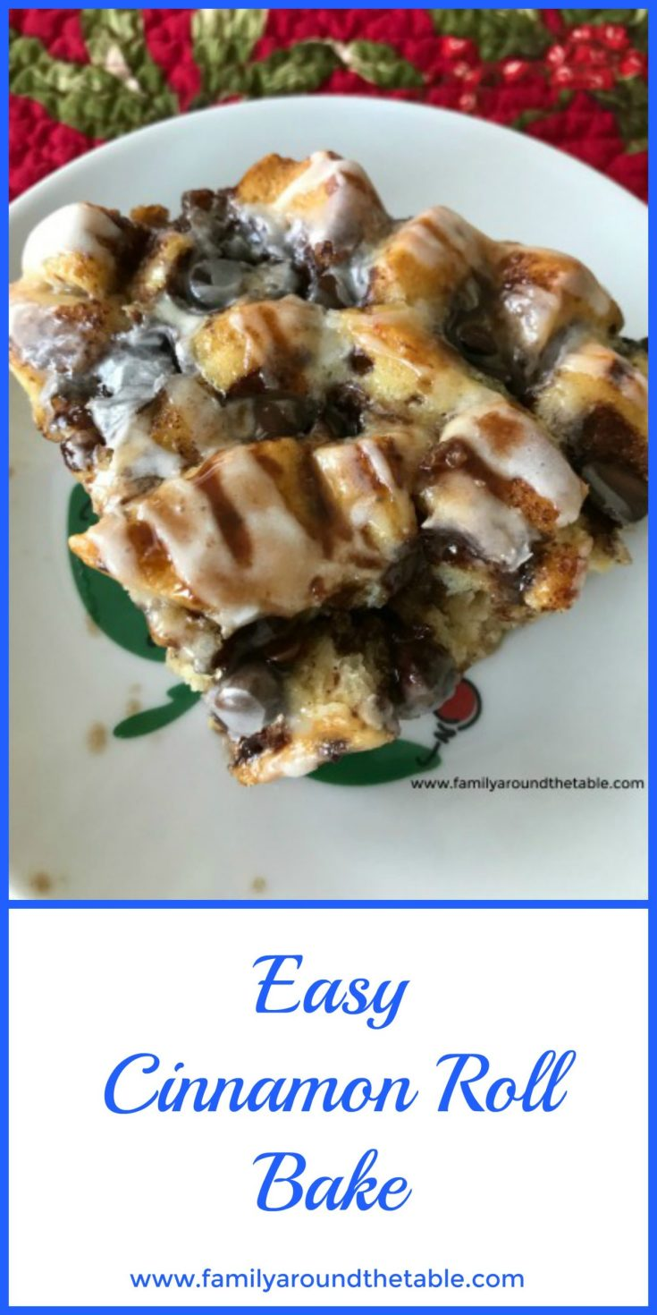 Easy Cinnamon Roll Bake is perfect for a weekend or special occasion breakfast. #ChristmasSweetsWeek