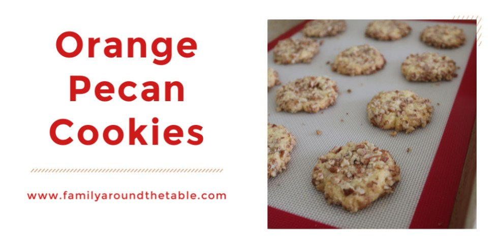 Celebrate spring with orange pecan cookies. They taste like a burst of sunshine.