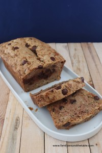 One bowl chocolate chip zucchini bread is a delicious quick bread for breakfast or a snack.