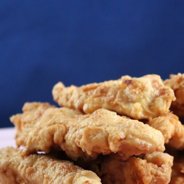 Your family will enjoy restaurant style chicken strips at home. Perfect for appetizers or as a meal.