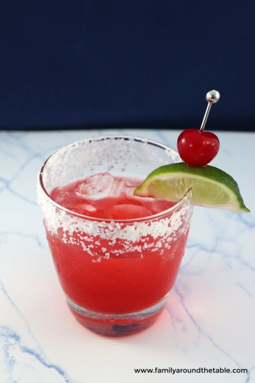 Cherry lime margaritas are a sweet cherry on the classic lime margarita.
