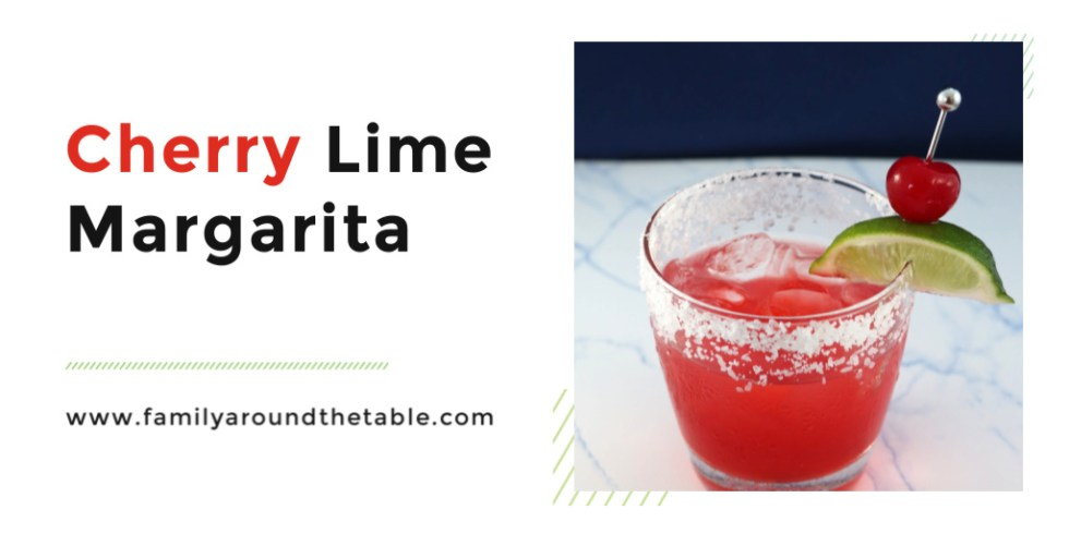 A cherry lime margarita is a fresh twist on a classic cocktail.