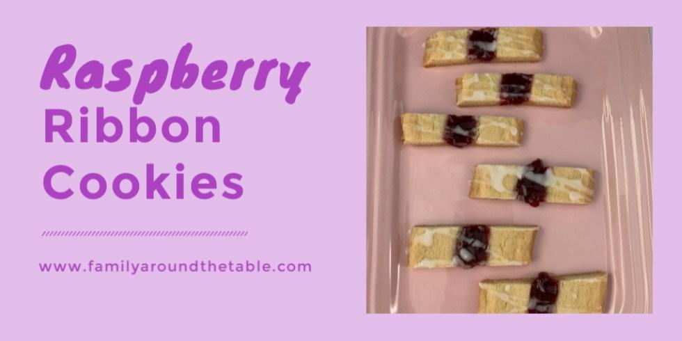 Raspberry ribbon cookies twitter image.