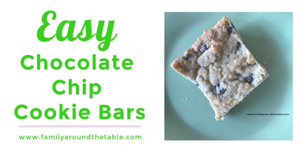 Chocolate chip cookie bar Twitter image