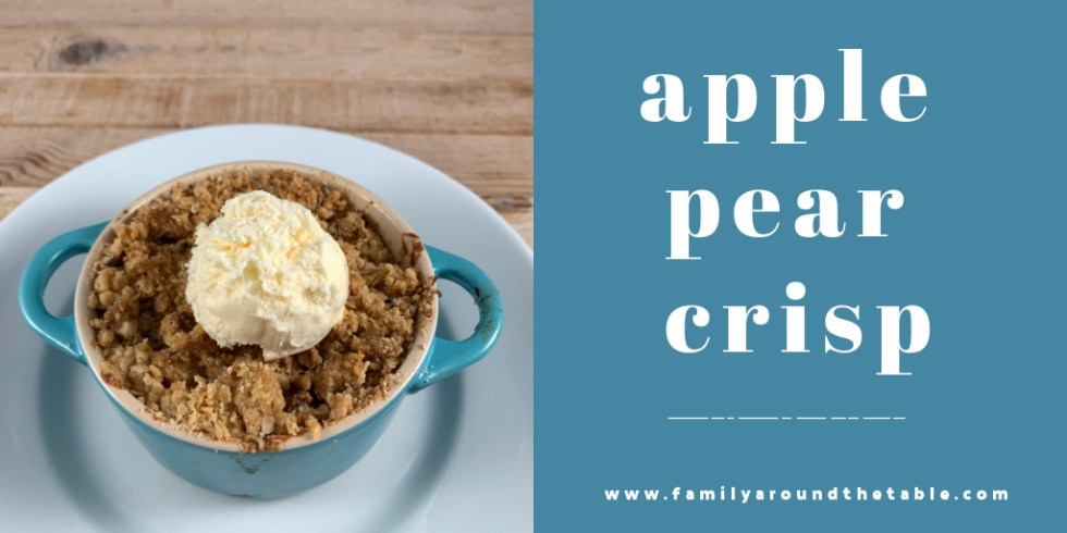 Apple Pear Crisp Twitter Image