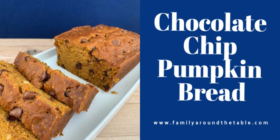 Chocolate chip pumpkin bread Twitter image