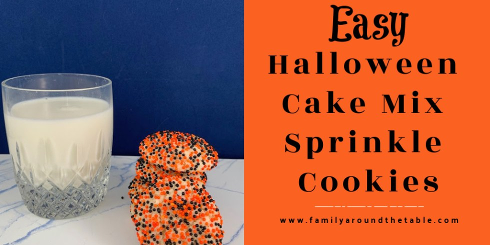 Halloween Cake Mix Sprinkle Cookie Twitter Image.