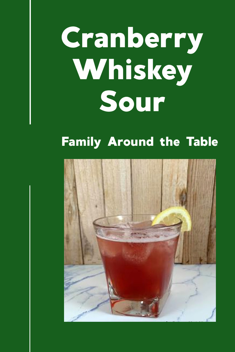 Cranberry whiskey sour Pinterest image.