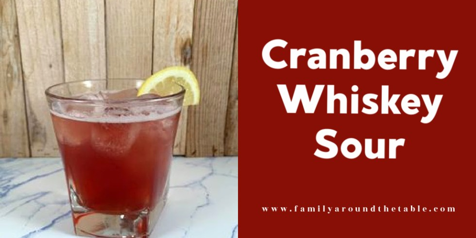 Cranberry whiskey sour Twitter image.