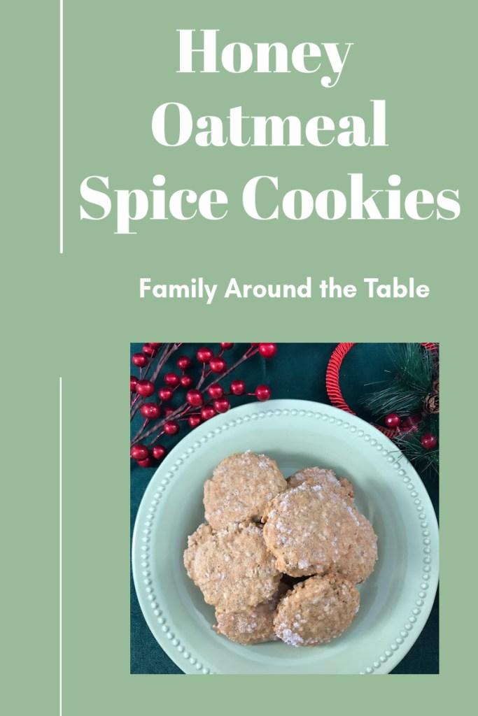Honey Oatmeal Spice Cookies Pinterest Image