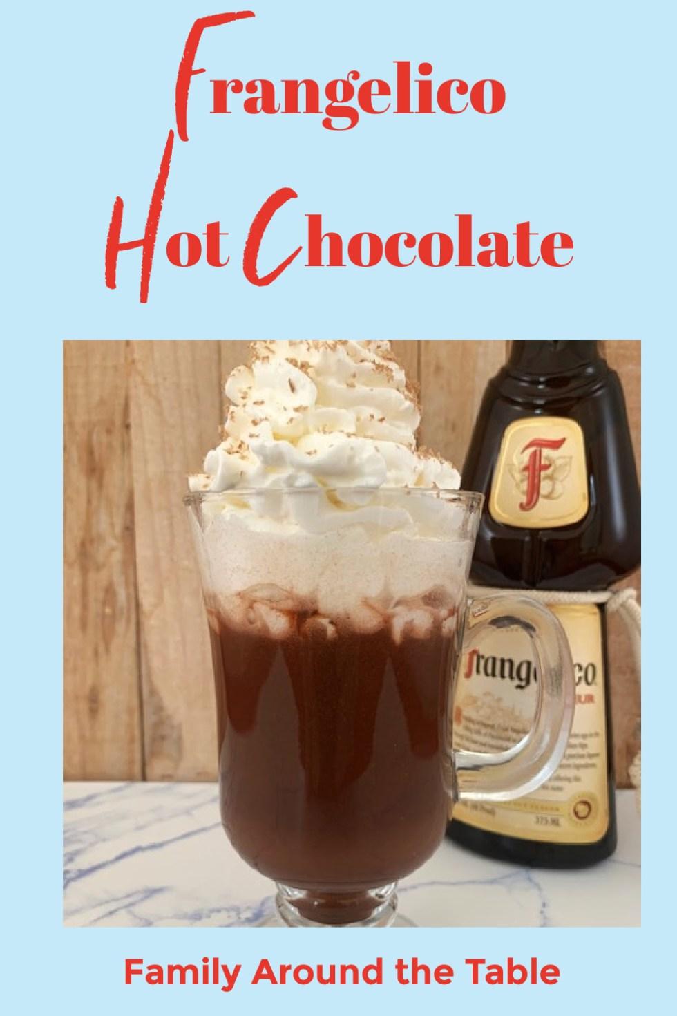 Frangelico Hot Chocolate Pinterest image.