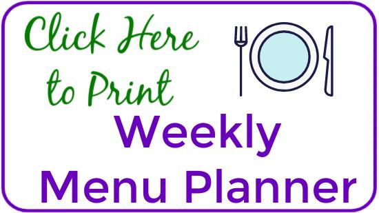 Weekly Menu Planner Graphic
