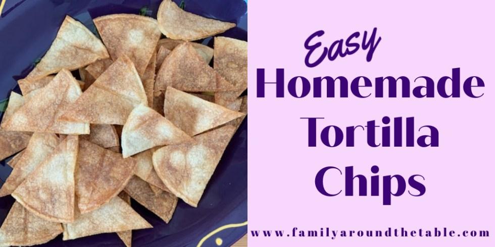 Homemade Tortilla chips Twitter image.
