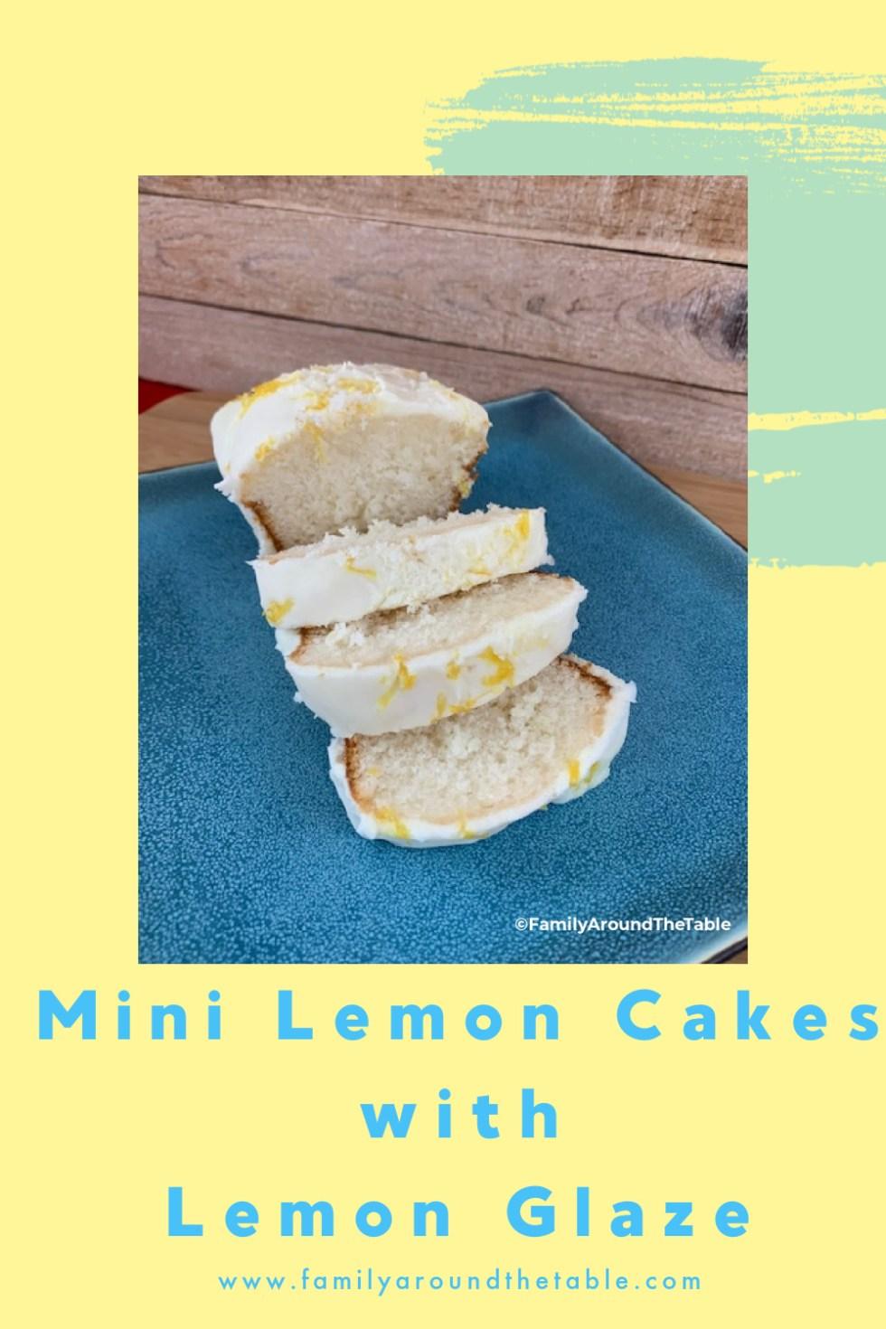 Mini Lemon Cakes Pinterest Image